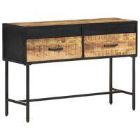 vidaXL Table console 110x35x75 cm Bois de manguier brut