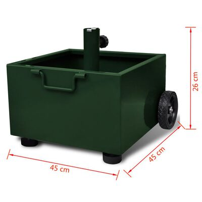 vidaXL Pot de plantes et support de parasol d'extérieur 2-en-1 Vert