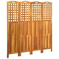 vidaXL Cloison de séparation 4 panneaux 161x2x170 cm Bois d'acacia
