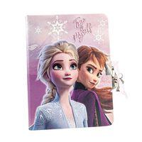 Frozen 2 - Journal avec serrure en forme de coeur