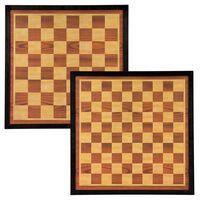 Abbey Game Échiquier et jeu de dames 41x41 cm Bois Marron et beige