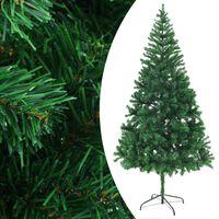 vidaXL Arbre de Noël artificiel et support Acier 210 cm 910 branches