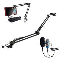 Support de microphone pliable support de micro extensible support de