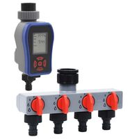 vidaXL Minuterie d'arrosage numérique à sortie et distributeur d'eau