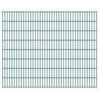 vidaXL Panneaux de clôture de jardin 2D 2,008x1,63 m 42 m total Vert