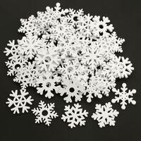 Mélanger les ornements de Noël de flocons de neige blancs en bois