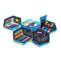 52pcs | Bote de papeterie pour enfants | Avec feutres, crayons de co