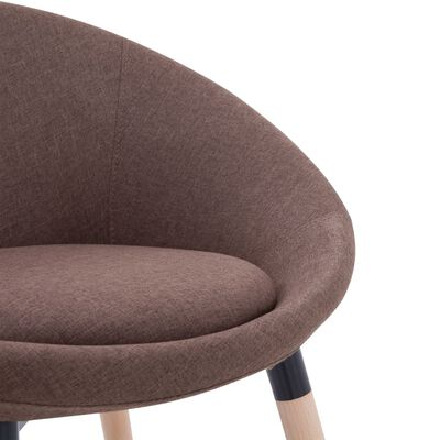 vidaXL Chaise de salle à manger Marron Tissu