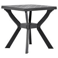 vidaXL Table de bistro Anthracite 70x70x72 cm Plastique