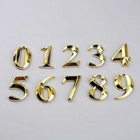 Chiffres de la porte 0-9 étiquette de numéro en plastique numéro