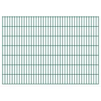 vidaXL Panneaux de clôture de jardin 2D 2,008x1,43 m 4 m total Vert