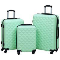 vidaXL Ensemble de valises rigides 3 pcs Menthe ABS