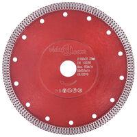 vidaXL Disque de coupe diamanté avec trous Acier 230 mm