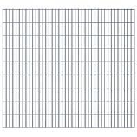 vidaXL Panneaux de clôture de jardin 2D 2,008x1,83 m 20 m total Gris