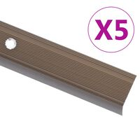 vidaXL Nez de marche Forme en L 5 pcs Aluminium 134 cm Marron