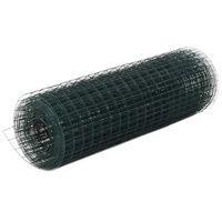 vidaXL Grillage Acier avec revêtement en PVC 25x0,5 m Vert