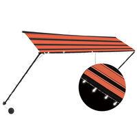 vidaXL Auvent rétractable avec LED 300x150 cm Orange et marron