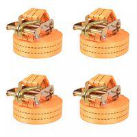 vidaXL Sangle d'arrimage à cliquet 4 pcs 1 tonne 6 m x 38 mm Orange