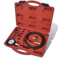 vidaXL Kit à outils de test de pression de l'huile et du moteur
