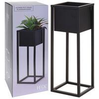 Home&Styling Pot de fleurs sur pied Métal Noir 60 cm
