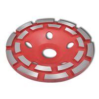 vidaXL Disque de broyage diamanté à double ligne 125 mm