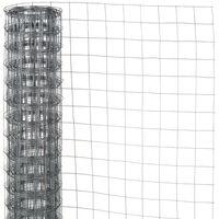 Nature Grillage métallique carré 0,5x2,5 m 6,4 mm Acier galvanisé