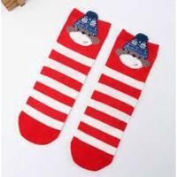 Chaussettes de Noël bébé filles garçons enfants - rayé, éponge,