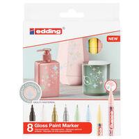 edding Marqueurs à peinture brillante 8 pcs Multicolore 751