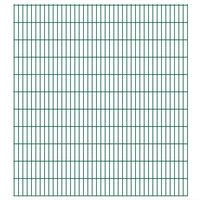 vidaXL Panneaux de clôture de jardin 2D 2,008x2,23 m 4 m total Vert
