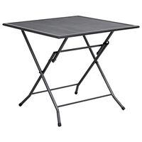 vidaXL Table pliable en maille 80x80x72 cm Acier Anthracite