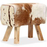vidaXL Tabouret Cuir véritable de chèvre 60 x 30 x 50 cm
