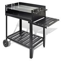 vidaXL Support de barbecue au charbon de bois 2 roues