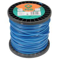 FLO Fil de coupe-herbe 2,4 mm 90 m Bleu