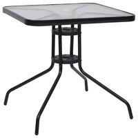 vidaXL Table de jardin Noir 70x70x70 cm Acier