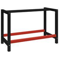 vidaXL Cadre de banc de travail Métal 120x57x79 cm Noir et rouge