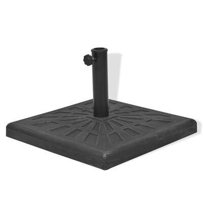 vidaXL Base carrée de parasol Résine Noir 12 kg