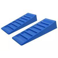 ProPlus 2 pcs Niveleurs de caravane 75 mm Plastique Bleu