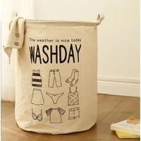 Panier à linge en coton support de stockage de jouets, laver les