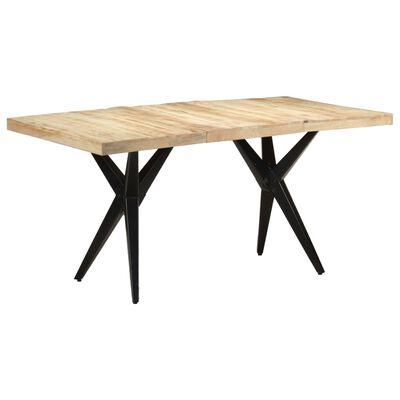 vidaXL Table de salle à manger 160x80x76 cm Bois de manguier brut
