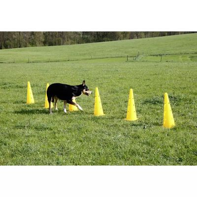 Kerbl Ensemble de cônes-obstacles d'agilité Jaune 81994