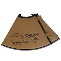 All Four Paws Collier animaux de compagnie Comfy Cone XXL 37,5 cm Brun