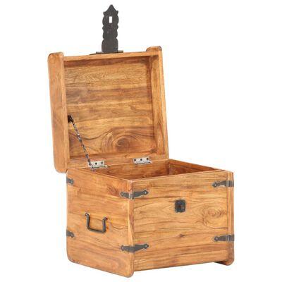 vidaXL Coffre 40x40x40 cm Bois d'acacia solide