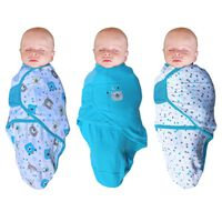 Bo Jungle Couverture pour bébé 3 pcs Ourson Bleu