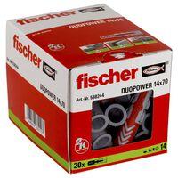 Fischer Ensemble de chevilles DUOPOWER 14x70 S 20 pcs