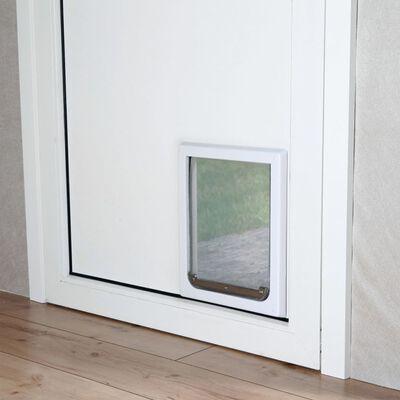 TRIXIE Chatière pour chiens à double sens Taille S-M 30 x 36 cm Blanc