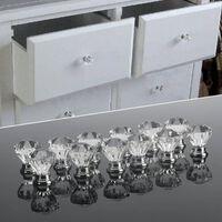 12pcs de bouton en forme de diamant acrylique transparent (30mm)