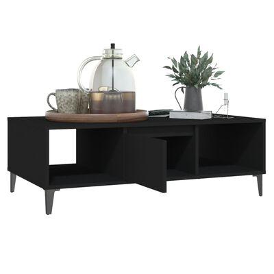 vidaXL Table basse Noir 103,5x60x35 cm Aggloméré