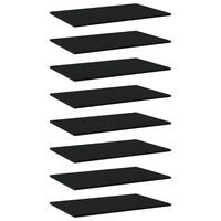 vidaXL Panneaux de bibliothèque 8 pcs Noir 80x50x1,5 cm Aggloméré