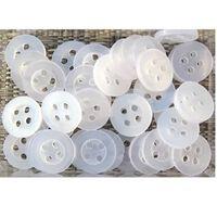 Boutons 10-15 Mm Couleurs Mlanges - Blancs Et Transparents x 100