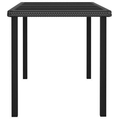 vidaXL Table à dîner de jardin Noir 140x70x73 cm Résine tressée